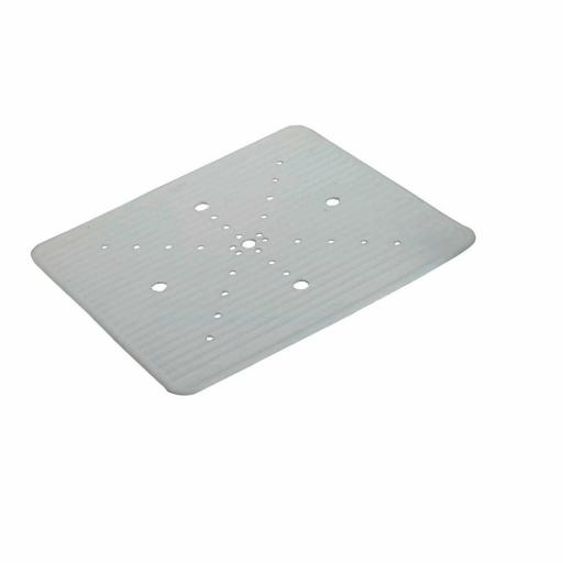 New Kitchen Craft Safety Rubber Sink Mat 31cm X 26cm KCSMAT Off White