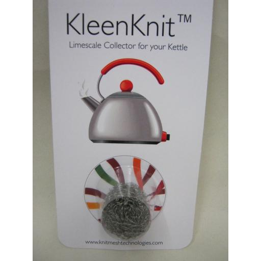 New KleenKnit Kettle Descaler Limescale Metal Fur Collector