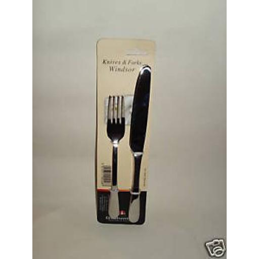 New Windsor Stainless Steel Knives And Forks Pk 2