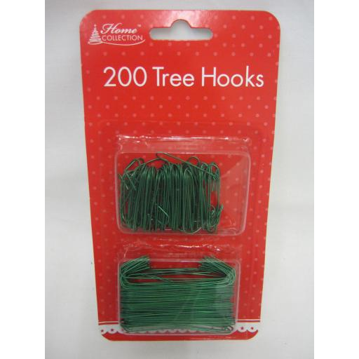New Christmas Tree Decoration Bauble Hooks Pk 200