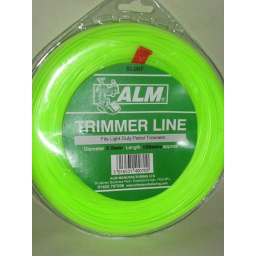 New ALM Light Weight Duty Trimmer Line For petrol Trimmers 2.00mm 126mtrs SL007