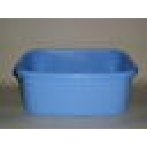 "New Lucy Small Oblong Plastic Washing Up Bowl Corn Blue 33cm 13"" Slight Seconds"