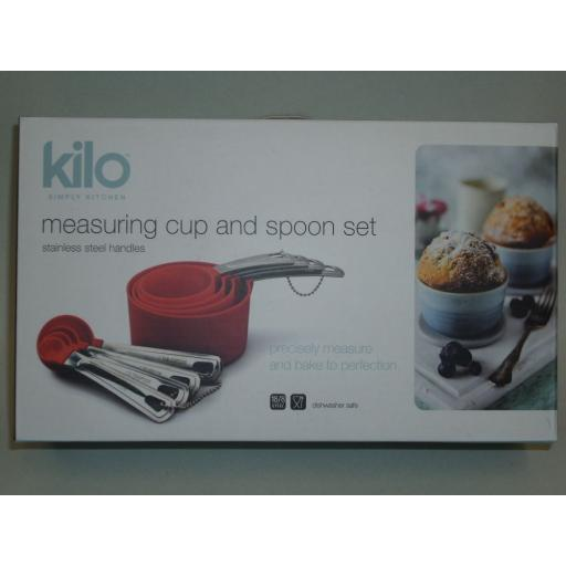 New Kilo Food Measuring Cups And Measure Spoons Set Red N112