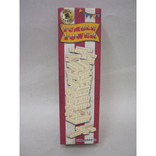 New Retro Games Traditional Wooden Tumble Tumbling Tower Wood RFS10236