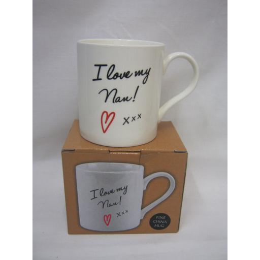 New Lesser And Pavey Fine China Mug Beaker Coffee Tea Cup I Love My Nan