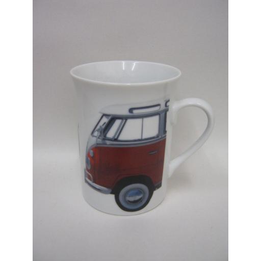 New Volkswagen Photographic Lippy Mug Blue V Red Campervan Splitty Licensed VW