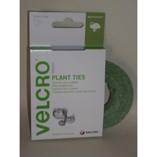 New Velcro Plant Ties Staking Trellis Training Green 5m x 12mm Rolls 60202