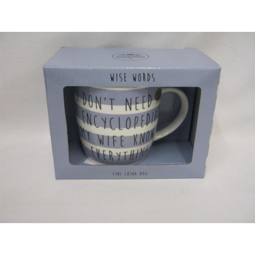 New Lesser And Pavey Fine Bone China Mug Beaker Coffee Tea Encyclopedia Mug