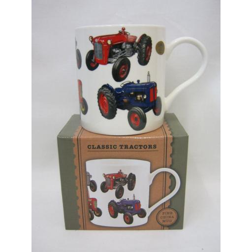 New Lesser And Pavey Fine China Mug Beaker Coffee Tea Cup Classic Tractors