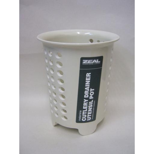 New Cks Zeal Melamine Cutlery Drainer Utensil Pot G231 Cream