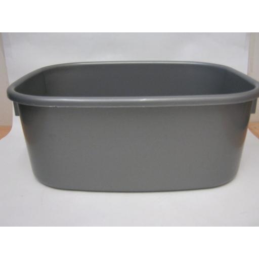 "New Lucy Large Oblong Plastic Washing Up Bowl 38cm 15"" Slight Seconds Silver"