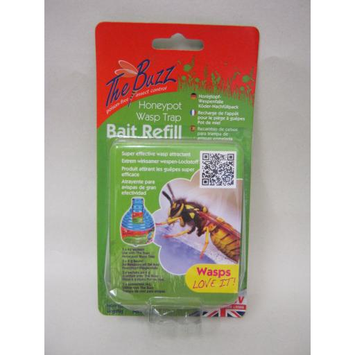 New The Buzz Outdoor Wasp Honeypot Trap Killer Bait Refill STV371