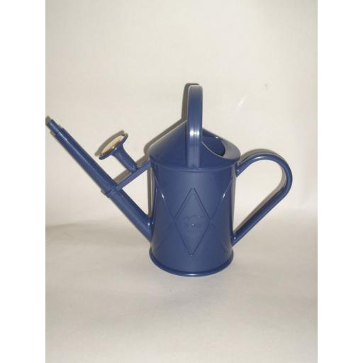 New Haws Heritage Indoor Plastic Watering Can Brass Rose 1 Litre Dark Blue