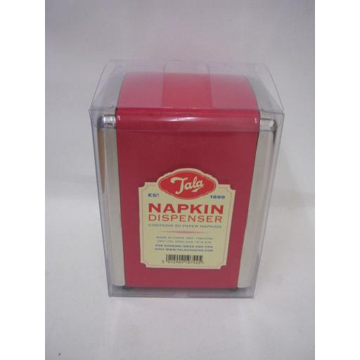 New Tala Napkin Dispenser Contains 50 Napkins Red 10B10744