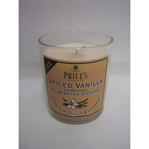 New Prices Limited Edition Scented Candle Glass Jar Spiced Vanilla And Cinnamon