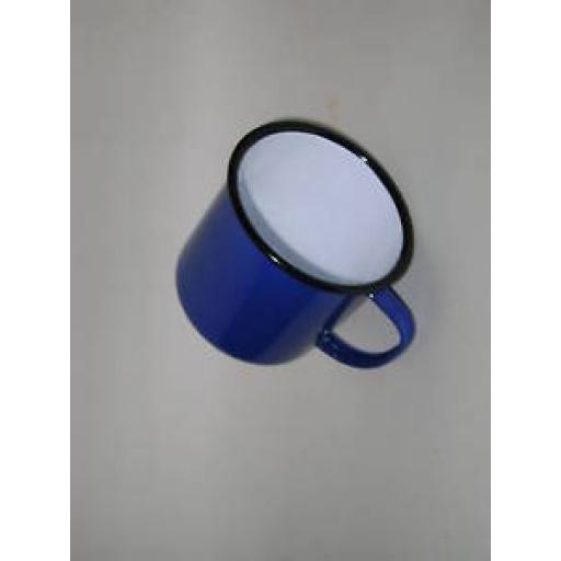 New Falcon Blue Enamel Mug Beaker Cup Tea Camping 8cm