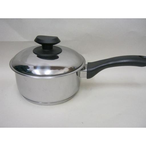 New Pendeford Supreme Induction Stainless Steel Sauce Pan And Lid 16cm 11910