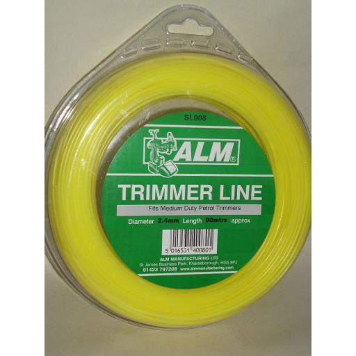 New ALM Medium Weight Duty Trimmer Line For petrol Trimmers 2.4mm 90m SL008