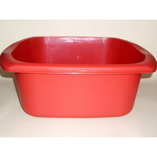 New Addis Red Oblong Plastic Washing Up Bowl 38cm 15 Inch