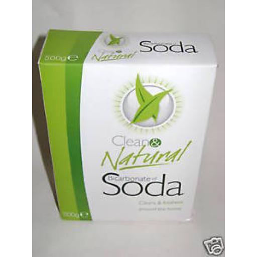 New Dri Pak Clean & Natural Bicarbonate of Soda 500g 2 X Packs