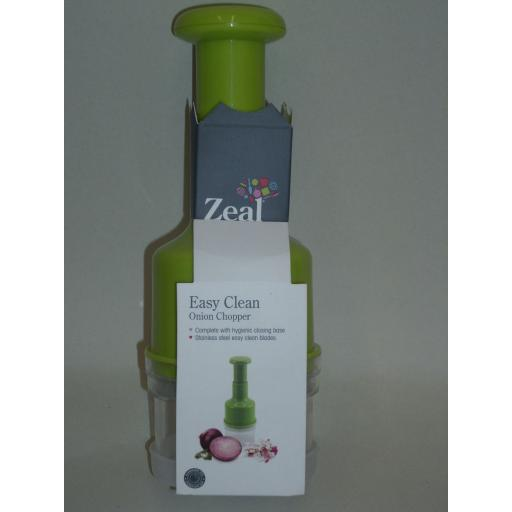 New Zeal Vegetable Onion Chopper Dicer Cutter Slicer Lime Green J256