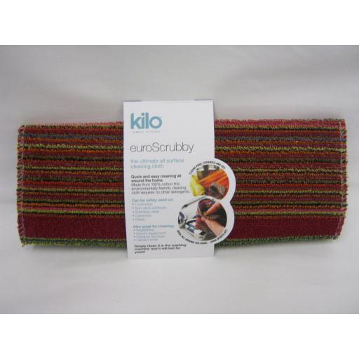 New Kilo Large Euro Scrubby Scourer Cleaning Cloth Assorted Colours L47
