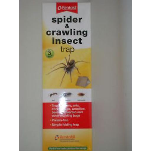 New Rentokil Spider Woodlice Insect Killer Traps Pk3