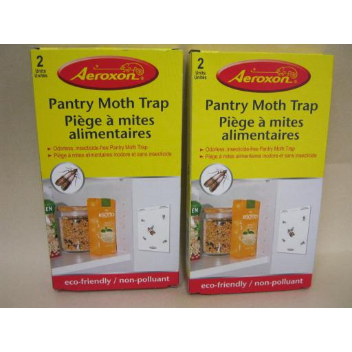 New Aeroxon Pantry Food Moth Trap Non Toxic And Odourless 2pks = 4 Traps