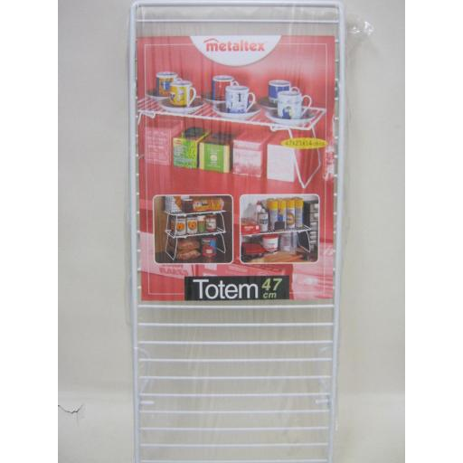 New Metaltex Totem White Plastic Coated Wire Folding Space Saving Shelf 364347