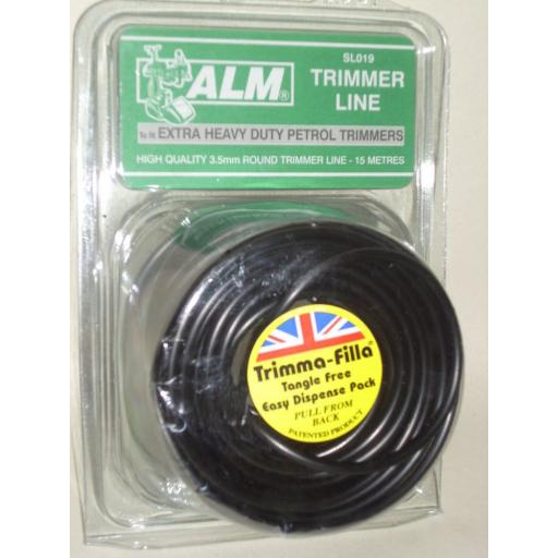 New ALM Extra Heavy Duty Petrol Trimmer Line Black 3.5 mm 15 Metres SL019