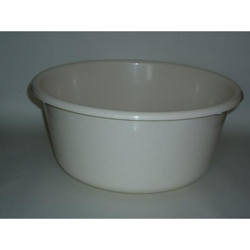 "New Lucy Beige Large Round Plastic Washing Up Bowl 35cm 14"" Slight Seconds"