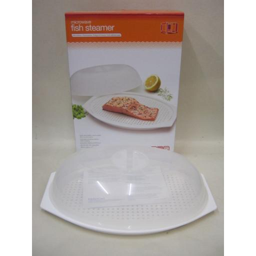 New Kitchen Craft Microwave Fish Steamer 29cm x 20cm KCMFISH