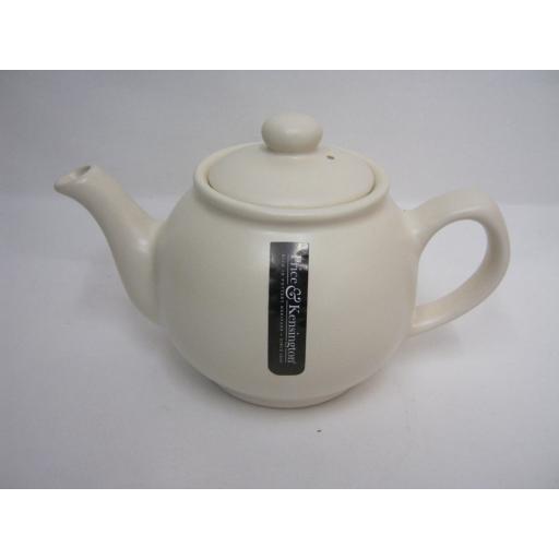 New Price And Kensington Small Pot Teapot 2 Cup Matt Cream 0056.728