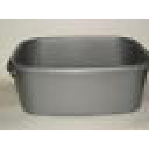 """New Lucy Silver Small Oblong Plastic Washing Up Bowl 33cm 13"""" Slight Seconds"""