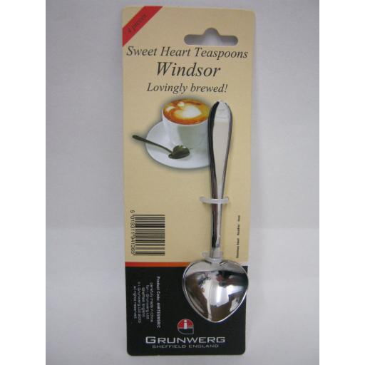 New Windsor Sweet Heart Shaped Teaspoons Stainless Steel Pk4 4HRTESWSR/C