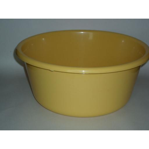 "New Lucy Yellow Large Round Plastic Washing Up Bowl 35cm 14"" Slight Seconds"