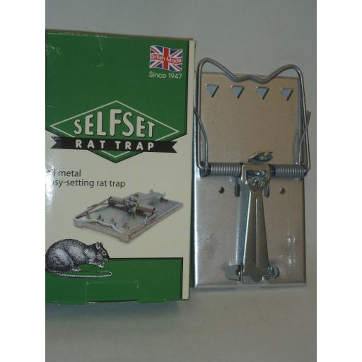New Selfset Easy Setting Metal Rat Rodent Trap Reuseable