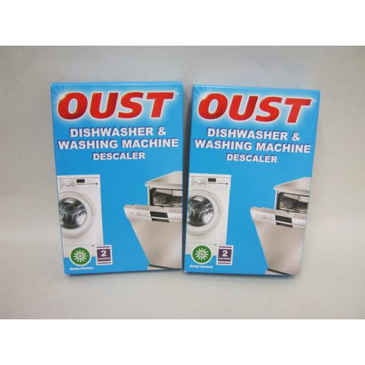 New Oust Limescale Descaler Dishwasher Washing Machine 2 x Boxes