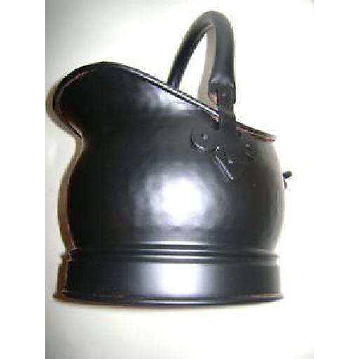 New Manor Black Coal Scuttle Bucket Fuel Hod Salisbury 322