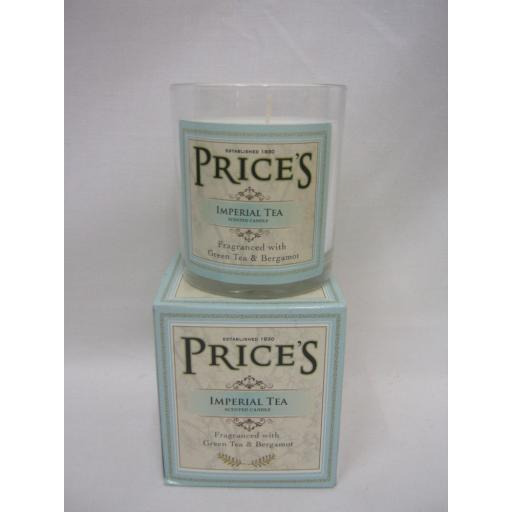 New Prices Heritage Collection Scented Candle Glass Jar Imperial Tea