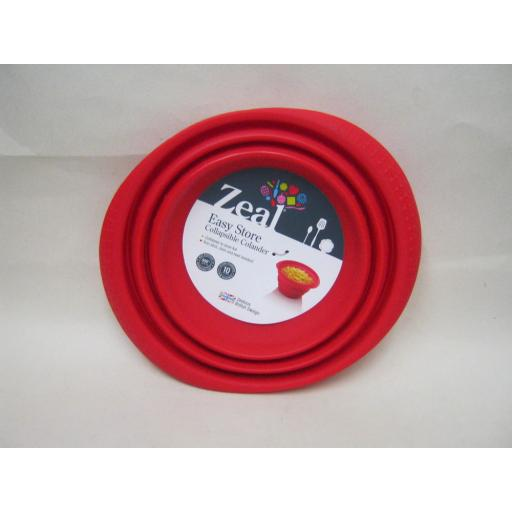 New Zeal Silicone Colander Collapsible 19cm Medium M125 Red