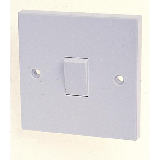 New Lyvia 1 Gang 1 Way White Flush Switched Plate Switch 10A 4401 Pk10