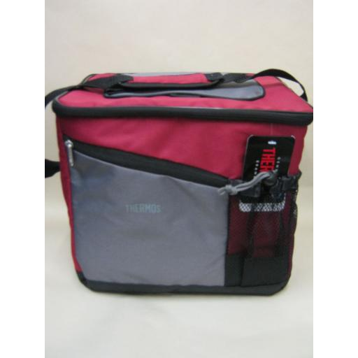 New Thermos Insulated Cooler Cool Bag 24 Can 22 Litre Burgundy 152715