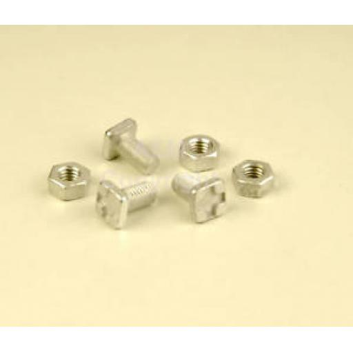 New ALM Greenhouse GH004 Square Glaze Bolts & Nuts x 20