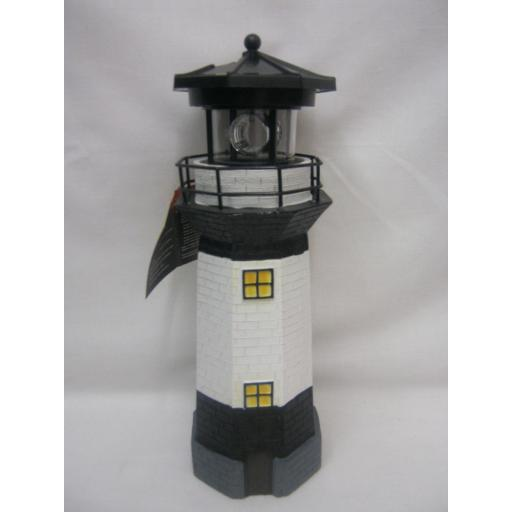 New Gardenkraft Solar LED Light Garden Lighting Ornament Lighthouse Black 23860