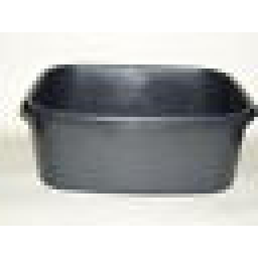 "New Lucy Black Small Oblong Plastic Washing Up Bowl 13"" 33cm Slight Seconds"