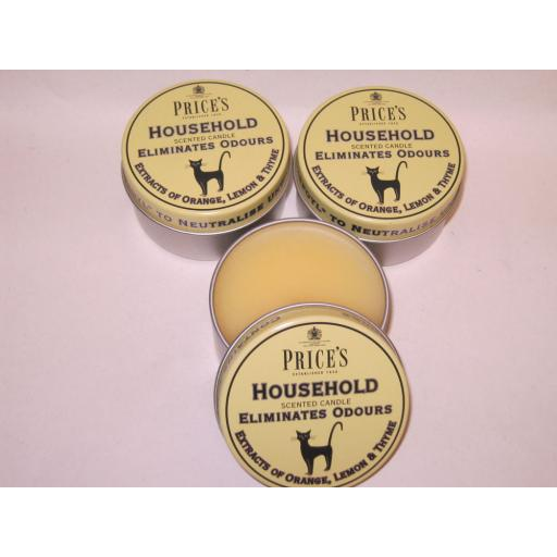 New Prices Wax Scented Candle Eliminates Household Odours Tin Cat Pk 3