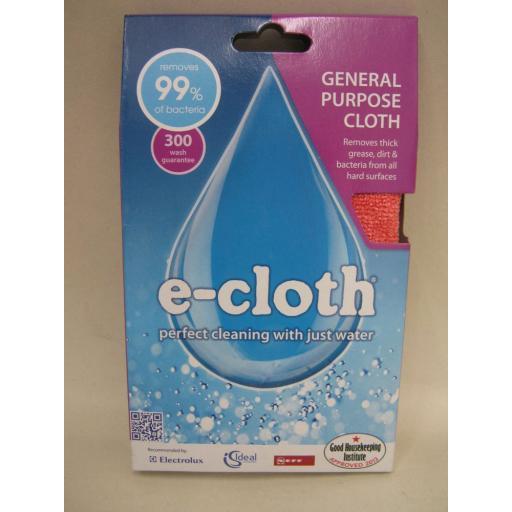 New E-Cloth Microfibre General Purpose 32cm x 32cm Salmon Pink