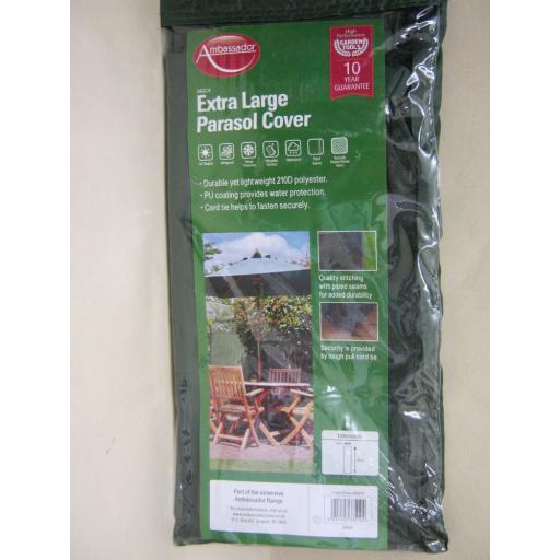 New Ambassador Extra Large Garden Parasol Cover Green ABGC15