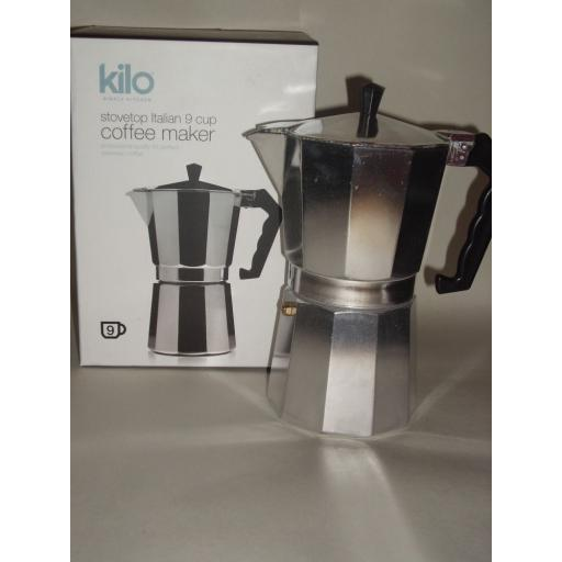 New Kilo Italian Stovetop Express Espresso Coffee Maker 9 Cup C17
